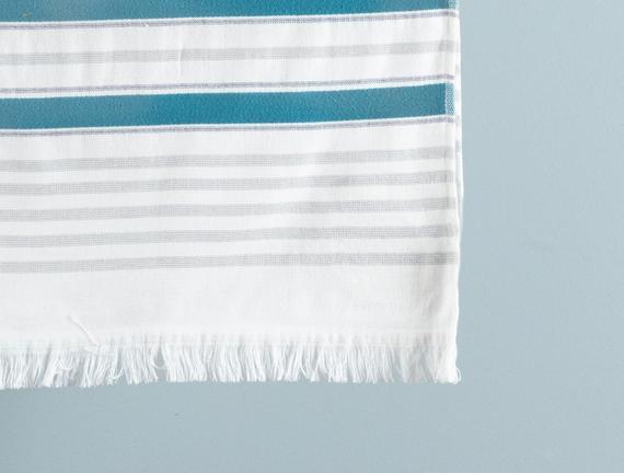Claire Armürlü Plaj Havlusu - Mavi / Lacivert - 75x150 cm