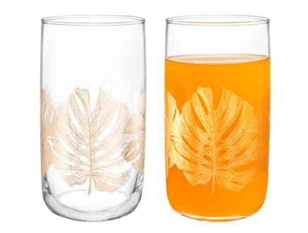 Musette-Golden Leaves 4'lü Meşrubat Bardağı Seti - 365 ml