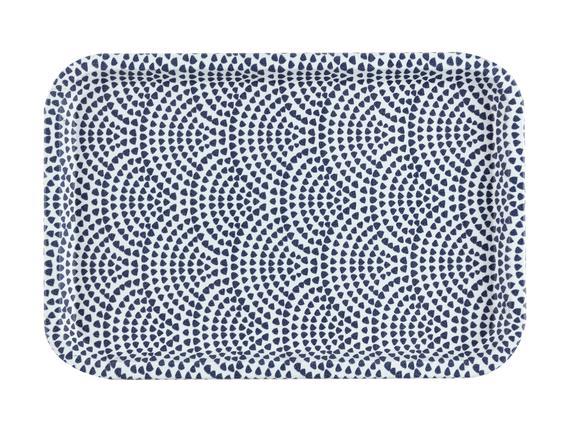 Rêve Bleu Baisse Dikdörtgen Kaydırmaz Tepsi 31x21 cm