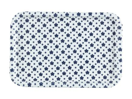 Rêve Bleu Petite Fleur Dikdörtgen Kaydırmaz Tepsi 31x21 cm