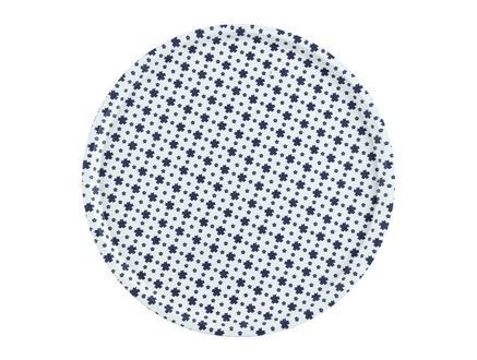 Rêve Bleu Petite Fleur Yuvarlak Kaydırmaz Tepsi  36,5 cm
