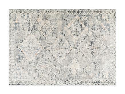 Clarette Halı - Açık Gri / Koyu Gri - 80x150 cm