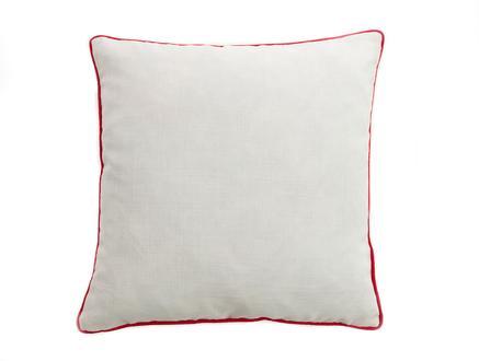 Clair Kırlent Kılıfı - Beyaz / Kırmızı - 43x43 cm