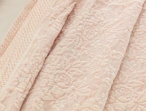 Florent Tek Kişilik Yatak Örtüsü - Somon