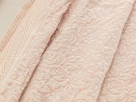 Florent Çift Kişilik Yatak Örtüsü - Somon