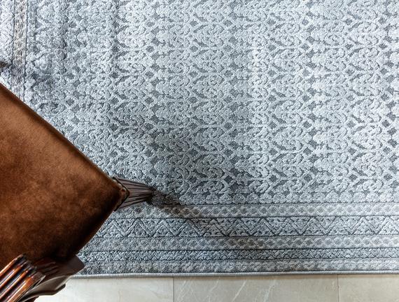 Maura Halı - Açık Gri / Bej - 80x150 cm