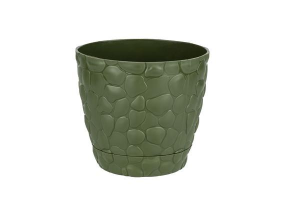 Aveline Stone Saksı 1,6 Lt - Koyu Yeşil