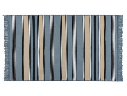Delmare Saçaklı Dokuma Kilim - Mavi / Bej - 120x180 cm