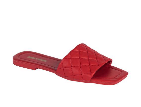Carre Kadın Terlik - Kırmızı