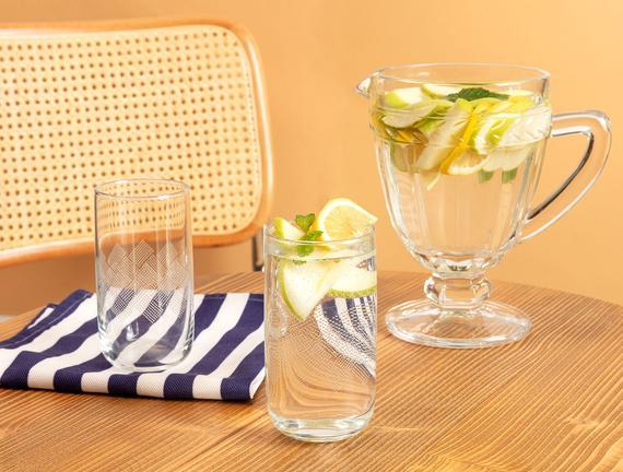 Musette White Rugs 4'lü Meşrubat Bardağı Seti - 365 ml