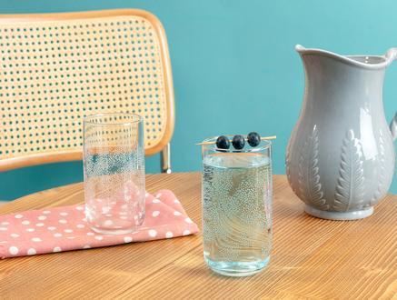Musette-White Flowers 4'lü Meşrubat Bardağı Seti - 365 ml