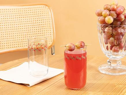 Musette-Cherry Bloom 4'lü Meşrubat Bardağı Seti - 365 ml