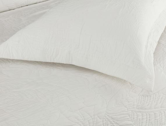 Elodie Tek Kişilik Yatak Örtüsü - Beyaz