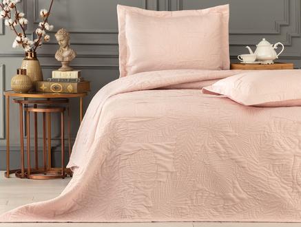 Elodie King Size Yatak Örtüsü Takımı - Pudra