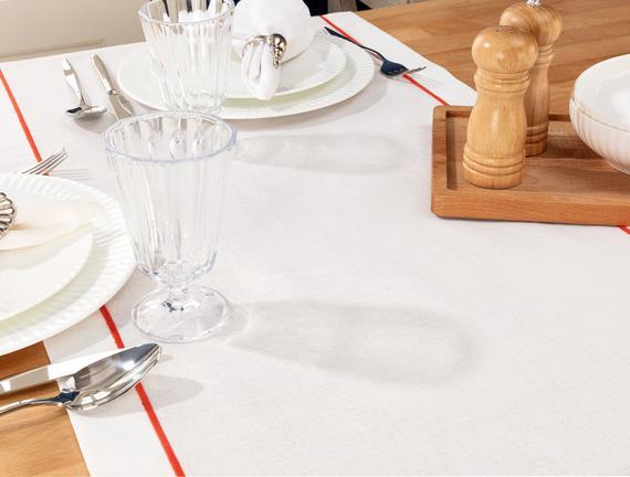 Azure Runner - Beyaz / Mercan - 48x145 cm