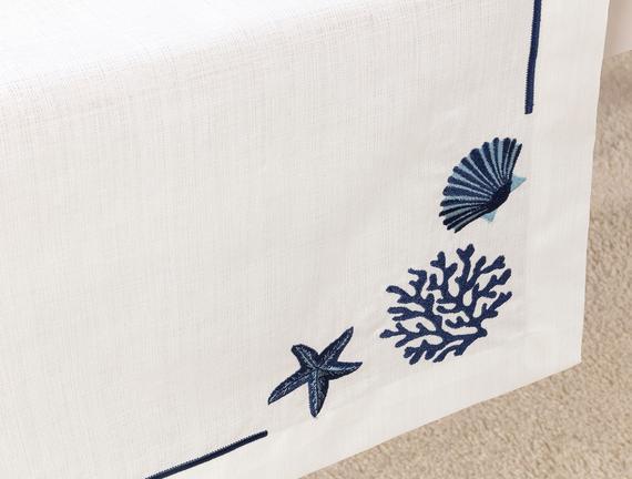 Azure Runner - Beyaz / Indigo - 48x145 cm