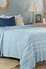 Alegron Tek Kişilik Yıkamalı Yatak Örtüsü - Açık Mavi