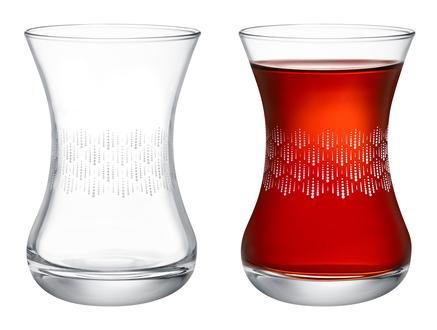 Lavem-Soft Rain 6'lı Çay Bardağı - 155 ml