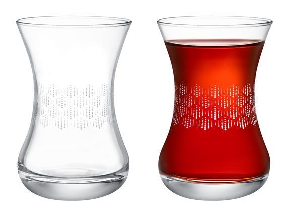 Lavem-Soft Rain 6'lı Çay Bardağı Seti 155 ml