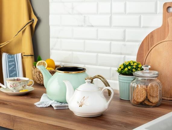 Papillon Çaydanlık - Mint Yeşili