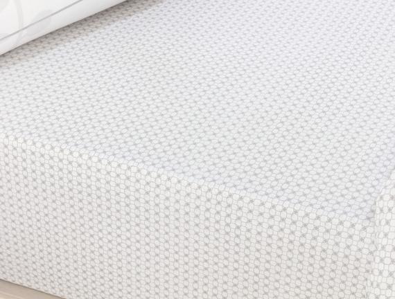 Nantes Single-Size Ranforce Duvet Cover Set - Gray