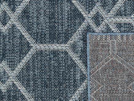 Nicola Halı - Mavi / Beyaz - 80x150 cm