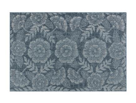 Roesia Halı - Mavi / Beyaz - 150x230 cm