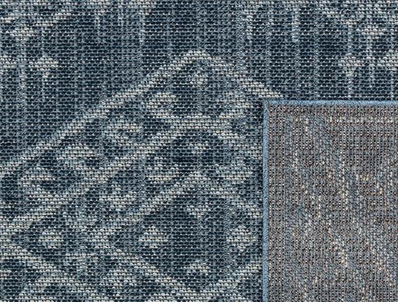 Damien Halı - Mavi/Beyaz -150X230 cm