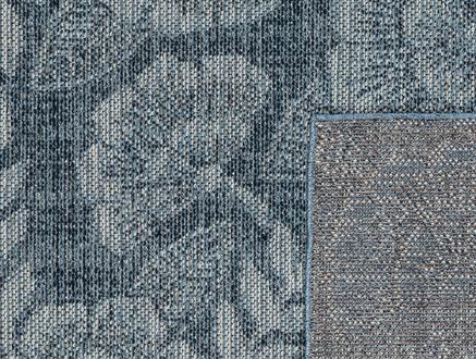 Roesia Halı - Mavi / Beyaz - 80x150 cm