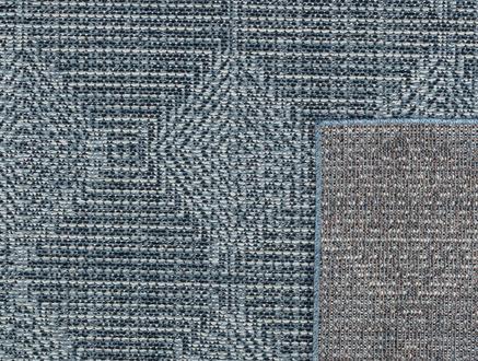 Lacene Halı - Mavi/Beyaz - 120x170 cm