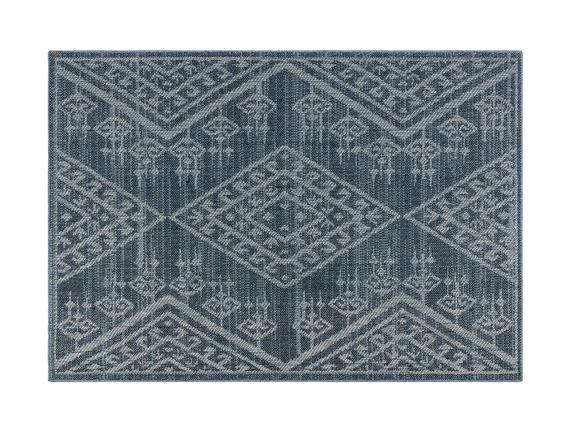 Damien Halı - Mavi/Beyaz - 120X170 cm