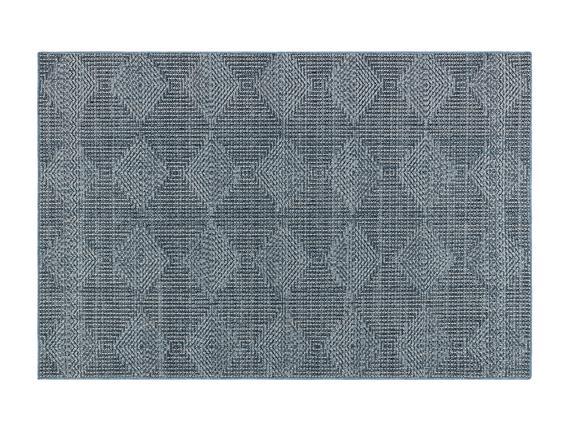 Lacene Halı - Mavi/Beyaz - 80X150 cm
