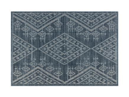 Damien Halı - Mavi/Beyaz - 80X150CM