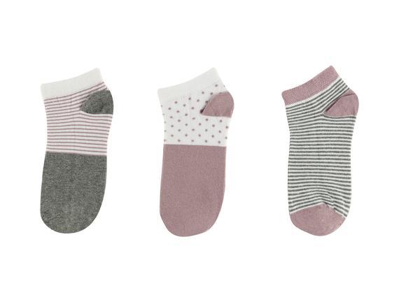 Emmalyn Kadın 3'lü Patik Çorap