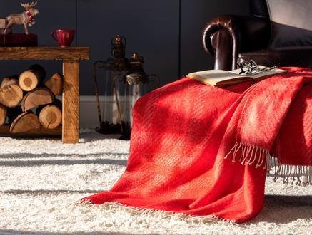 Katriane TV Battaniyesi - Kırmızı - 130x170 cm
