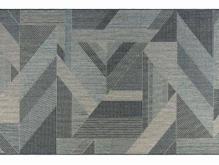 Fabien Halı - Mavi/Beyaz 80x150 cm