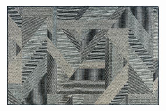 Fabien Halı - Mavi/Beyaz 120x170 cm