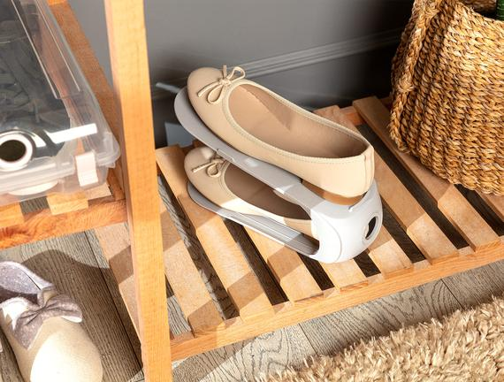 Ives Layer Ayakkabı Rampası - Soft Gri - 10,5X26,3X15 cm