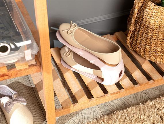 Ives Layer Ayakkabı Rampası - Soft Pudra - 10,5X26,3X15CM