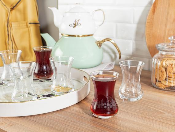 Lavem-Daisy Touch 6'lı Çay Bardağı Seti 155 ml