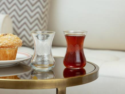 Carlotta-White Rugs 6'lı Çay Bardağı - 120 ml