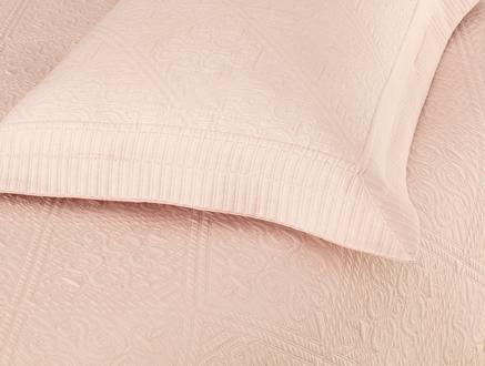 Jeanne King Size Yatak Örtüsü  Takımı - Pudra