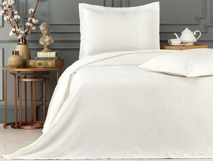 Jeanne Çift Kişilik Yatak Örtüsü  Takımı - Beyaz
