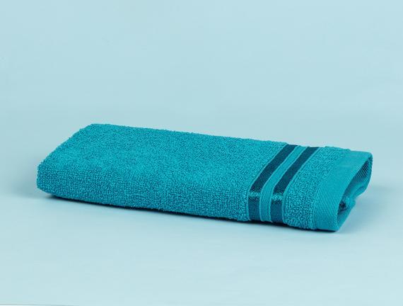 Maynor Bordürü Floşlu El Havlusu - Koyu Mint Yeşili - 30x45 cm