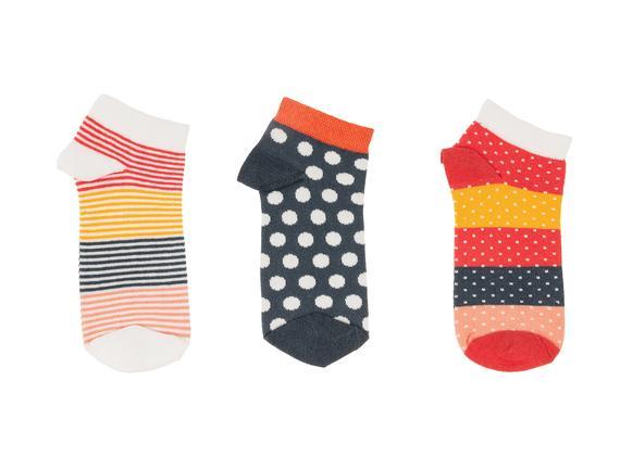 Capucina Kadın 3'lü Patik Çorap
