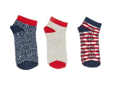 Jannie Kadın 3'lü Patik Çorap