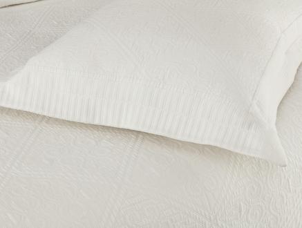 Jeanne King Size Yatak Örtüsü Takımı - Beyaz