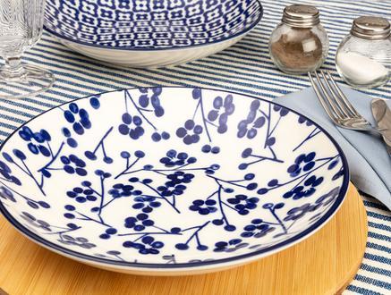 Rêve Bleu Ange Yemek Tabağı - Mavi - 22 cm