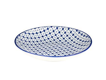 Rêve Bleu Délicat Yemek Tabağı - Mavi - 22 cm