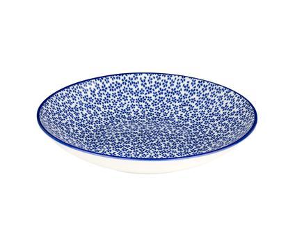 Rêve Bleu Ensoleillé Yemek Tabağı - Mavi - 22 cm